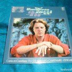 Discos de vinilo: UMBERTO TOZZI. TU. CANTA EN CASTELLANO. EP. PROMOCIONAL. PORTADA ABIERTA. Lote 207324322