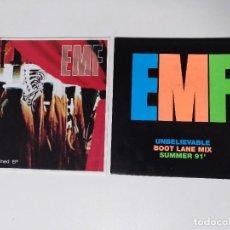 """Discos de vinil: [[ LOTE 7"""" 45RPM ]] EMF -UNBLIEVABLE / EMF -UNEXPLAINED EP. Lote 207340091"""