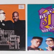 "Discos de vinilo: [ LOTE 7"" 45RPM ] HEAVY D & THE BOYZ -NOW THAT WE FOUND LOVE / HEAVY D & THE BOYZ -IS IT GOOD TO YOU. Lote 207347482"