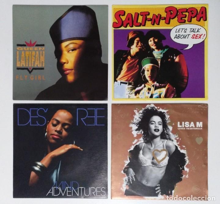 "[[ LOTE 7"" 45RPM ]] SALT N PEPA / QUEEN LATIFAH / DESREE / LISA M (Música - Discos - Singles Vinilo - Rap / Hip Hop)"