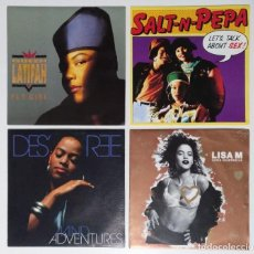 "Dischi in vinile: [[ LOTE 7"" 45RPM ]] SALT N PEPA / QUEEN LATIFAH / DESREE / LISA M. Lote 207348663"
