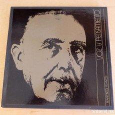 Discos de vinilo: FRANCISCO FRANCO VOZ Y PENSAMIENTO. 3 DISCOS LP Y LIBRETO DESCRIPTIVO.. Lote 207354770