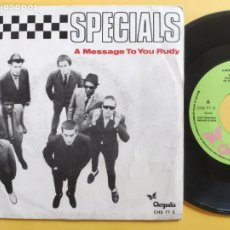 Discos de vinilo: THE SPECIALS - 45 SPAIN PS - EX * PROMO * A MESSAGE TO YOU RUDY * 2 TONE * CHRYSALIS CHS TT 5 *1980. Lote 207357621