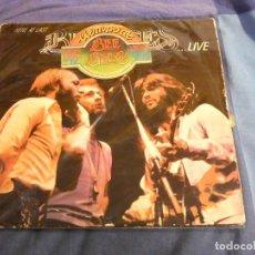 Discos de vinilo: DESDE UN EURO A TU RIESGO DOBLE LP BEE GEES LIVE DOBLE LP DIRECTO 1977 CON HERIDAS DE GUERRA. Lote 207367730