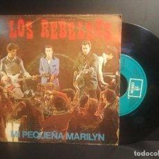 Dischi in vinile: LOS REBELDES SG EMI 1981 MI PEQUEÑA MARILYN/ EL ROCK DEL HOMBRE LOBO ROCKABILLY. Lote 207370232