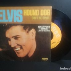 Discos de vinilo: ELVIS - HOUND DOG - SINGLE - 1972 RCA SPAIN PEPETO. Lote 207370613