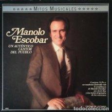 Discos de vinilo: MANOLO ESCOBAR - CAJA CON 3 LP Y UN LIBRO - EDITADA POR CIRCULO DE LECTORES EN 1987 #. Lote 207375930