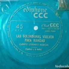 Dischi in vinile: CUENTO INFANTIL MUSICAL (SINGLE FLEXIBLE 1964) LAS GOLONDRINAS VUELVEN PARA NAVIDAD. Lote 207382908