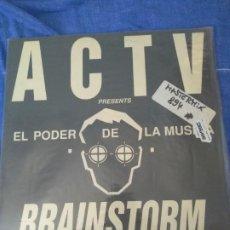 Discos de vinilo: DISCOTECA A.C.T.V. MAXISINGLE EL PODER DE LA MUSICA BRAINSTORM. Lote 207386626