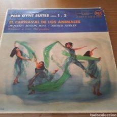 """Discos de vinilo: DISCO DE VINILO (MAXI) PEER GYNT SUITES """"EL CARNAVAL DE LOS ANIMALES"""". Lote 207387081"""