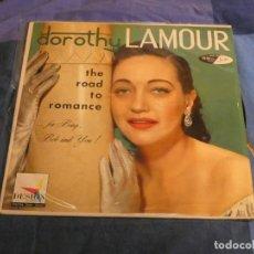 Discos de vinilo: PRECIOSO LP USA AÑOS 50 DOROTHY LAMOUR THE ROAD TO ROMANCE BUEN ESTADO!. Lote 207394438