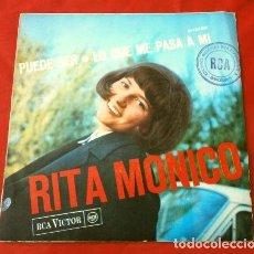 Discos de vinilo: RITA MONICO (SINGLE 66) (EN ESPAÑOL) PUEDE SER - LO QUE ME PASA A MI (DISCO CON SELLO EDICIONES RCA). Lote 207402511