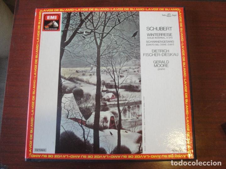 Discos de vinilo: CAJA 2 LPS + LIBRETO SCHUBERT WINTERREISE / FISCHER-DIESKAU / GERLAD MOORE - SIN USAR / - Foto 2 - 207333827
