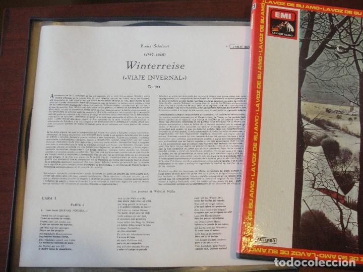 Discos de vinilo: CAJA 2 LPS + LIBRETO SCHUBERT WINTERREISE / FISCHER-DIESKAU / GERLAD MOORE - SIN USAR / - Foto 3 - 207333827