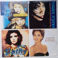 "Discos de vinilo: [[ LOTE 7"" 45RPM ]] STEVIE NICKS / VANESSA WILLIAMS / PAULA ABDUL / CATHY DENNIS. Lote 207394636"