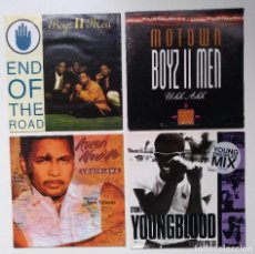 "Discos de vinilo: [[ LOTE 7"" 45RPM ]] SYDNEY YOUNGBLOOD/ AARON NEVILLE / BOYZ II MEN -UHH AHH / BOYZ 2 MEN. Lote 207398147"