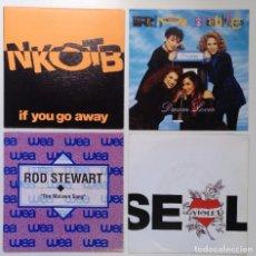 "Discos de vinilo: [[ LOTE 7"" 45RPM ]] NEW KIDS ON THE BLOCK / THE REBEL PEBBLES / ROD STEWART / SEAL -VIOLET. Lote 207411478"