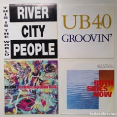 """Discos de vinilo: [[ LOTE 7"""" 45RPM ]] PM DAWN / UB40 -GROOVIN' / RIVER CITY PEOPLE / PAUL YOUNG WITH CLANNAD. Lote 207418142"""