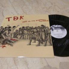 Discos de vinilo: TDK –ESTO ES UNA EMPRESA CAPITALISTA-LP-ORIGINAL-1985- LA GENERAL – 84.2250/7-EXCELENTE COMO NUEVO. Lote 207421323