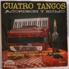 Discos de vinilo: DISCO DE VINILO EP --CUATRO TANGOS. Lote 207422498