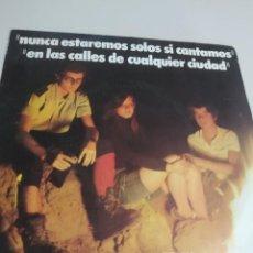 Discos de vinilo: DISCO DELEGACIÓN NACIONAL DE JUVENTUD 1975. JUAN DARNAL.NUNCA ESTAREMOS SOLOS SI CANTAMOS... REF. UR. Lote 207427558