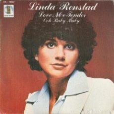 Disques de vinyle: LINDA RONSTADT - LOVE ME TENDER / OOH BABY BABY (SINGLE ESPAÑOL, ASYLUM RECORDS 1978). Lote 207430545