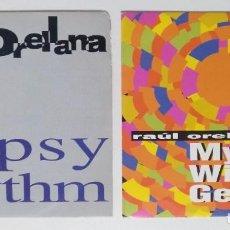 "Discos de vinilo: ((LOTE 2 SINGLES)) RAÚL ORELLANA FT. JOCELYN BROWN -GIPSY RHYTHM [[ LOTE 7"" 45RPM ]]. Lote 207446686"