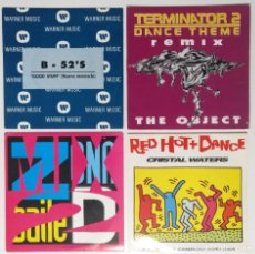 "Discos de vinilo: [[ LOTE 7"" 45RPM ]] THE B-52'S / THE OBJECT -TERMINATOR 2 THEME / ZONA DE BAILE 2 / RED HOT & DANCE. Lote 207448300"