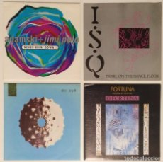 "Discos de vinilo: [[ LOTE 7"" 45RPM ]] FORTUNA / ADAMSKI + JIMI POLO / ABC -SAY IT / I.S.Q. -PANIC ON THE DANCEFLOOR. Lote 207451666"