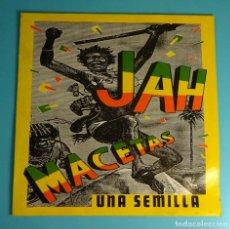 Discos de vinilo: JAH MACETAS. UNA SEMILLA. SOLO CARPETA SIN LP. Lote 207455096