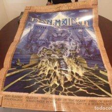 Discos de vinilo: IRON MAIDEN - SOMEWHERE BACK IN TIME WORLD TOUR 2008 - TOUR PROGRAMME - POSTER DE GIRA. Lote 207459141