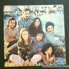 Discos de vinilo: LA COMPAÑIA (SINGLE 1972) LECCION 20 - TEMA PARA ANA (DISCO ESCASO EN BUEN ESTADO). Lote 207499750