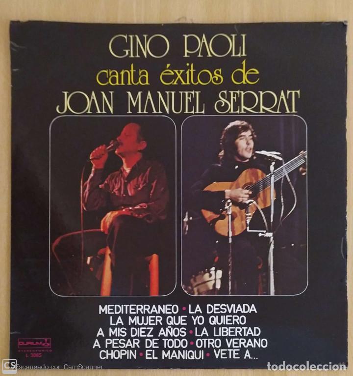 GINO PAOLI CANTA EXITOS DE JOAN MANUEL SERRAT - LP 1978 (Música - Discos - LP Vinilo - Cantautores Españoles)
