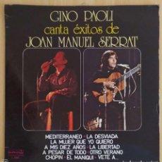 Discos de vinilo: GINO PAOLI CANTA EXITOS DE JOAN MANUEL SERRAT - LP 1978. Lote 207518006
