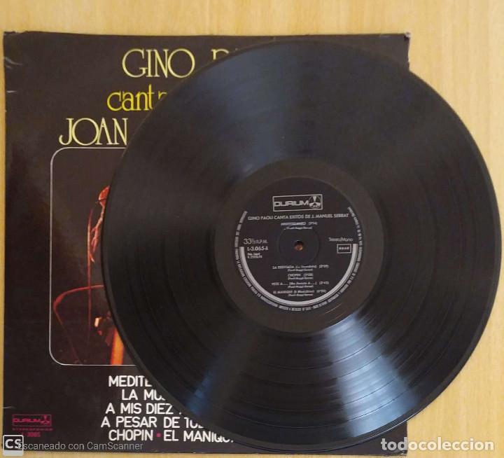 Discos de vinilo: GINO PAOLI CANTA EXITOS DE JOAN MANUEL SERRAT - LP 1978 - Foto 3 - 207518006