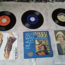 Discos de vinilo: LOTE DE DISCOS RETRO DE VINILO DE LOS CANTANTES CAPICUA, RUMBA TRES Y ALFIE KHAN. Lote 207519331