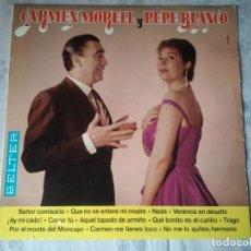 Discos de vinilo: RETRO DISCO DE CARMEN MORELL Y PEPE BLANCO. VINILO LP CANTANTE SOLISTA AUTOAUTOR. Lote 207520251