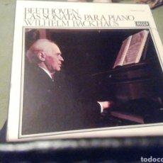 Discos de vinilo: BEETHOVEN. LAS SONATAS PARA PIANO. ESTUCHE VINILO 10 DISCOS. WILHELM BACKHAUS. Lote 207528368