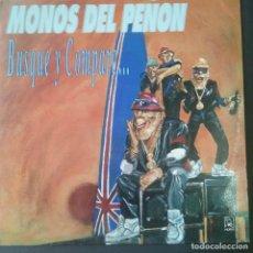 Discos de vinilo: (LP) MONOS DEL PEÑON - BUSQUE Y COMPARE HORUS 1990. Lote 207534542