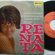 Dischi in vinile: RENATA - AUNQUE ESTES LEJOS . EP.+3 . MARFER .. Lote 207536868