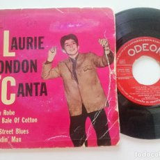 Discos de vinilo: LAURIE LONDON - CANTA: PICK A BALE OF COTTON +3- EP ODEON ESPAÑA 1959 // TEEN R&B ROCKER ROCKABILLY. Lote 207537607
