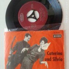 Disques de vinyle: CATERINA UND SILVIO - POPOCATEPETL-TWIST / THE PEPPERMINT-TWIST - SINGLE ALEMANIA DECCA 1962. Lote 207539492