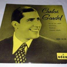 Discos de vinilo: SINGLE CARLOS GARDEL - POR TUS OJOS NEGROS. Lote 207209531