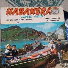 Discos de vinilo: E P ( VINILO) DE CORAL OÑATI ( HABANERAS) AÑOS 60. Lote 207543205