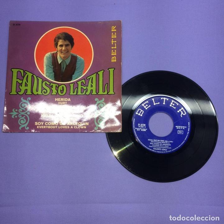 SINGLE FAUSTO LEALI - HERIDA HURT VG + (Música - Discos - Singles Vinilo - Canción Francesa e Italiana)
