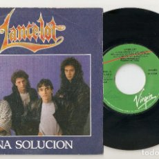 "Discos de vinilo: LANCELOT 7"" SPAIN 45 UNA SOLUCION + DESDE LA GRADA SINGLE VINILO 1989 SPANISH HEAVY HARD ROCK MIRA !. Lote 207556025"