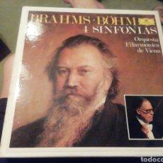 Discos de vinilo: BRAHMS. 4 SINFONÍAS. FILARMONICA DE VIENA. ESTUCHE 4 VINILOS.. Lote 207576180