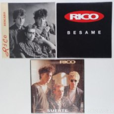 "Discos de vinilo: [ LOTE 7"" 45RPM ](EX NACHA POP) RICO -DESCARO / RICO -BÉSAME / RICO -SUERTE. Lote 207558506"