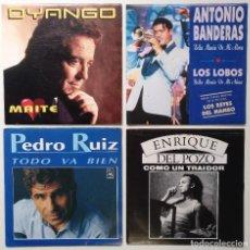 """Discos de vinilo: [ LOTE 7"""" 45RPM ]] ANTONIO BANDERAS / DYANGO -MAITE / PEDRO RUIZ / ENRIQUE DEL POZO -COMO UN TRAIDOR. Lote 207555977"""