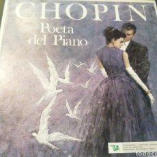 Discos de vinilo: CHOPIN. POETA DEL PIANO. VINILO. ESTUCHE DE 4 DISCOS.. Lote 207605615